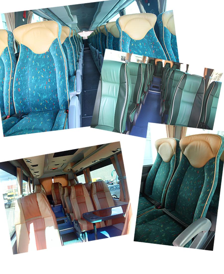 Interiores de lujo en nuestros autobuses