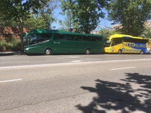 Classic Bus junto bus UD Las Palmas