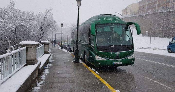 Classic Bus Segovia nieve 2