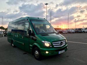 Classic Bus minibus puerto Valencia