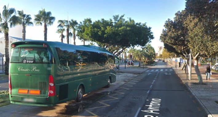 Classic Bus Google Maps Antonio Machado Malaga
