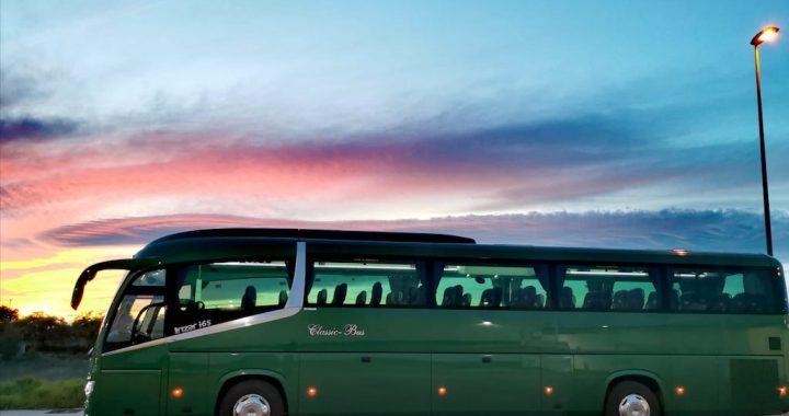 Classic Bus Atardecer Alzira Valencia